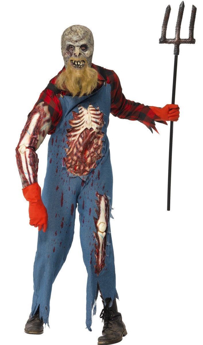 Mens Zombie Hillbilly Farmer Fancy Dress Costume Fancy Me Limited