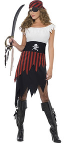 Ladies Pirate Babe Fancy Dress Costume