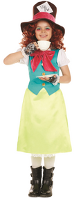 Girls Miss Hatter Fancy Dress Costume