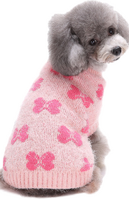 Dog Pink Bow Sweater