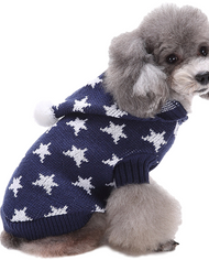 Dog Blue Star Hooded Sweater