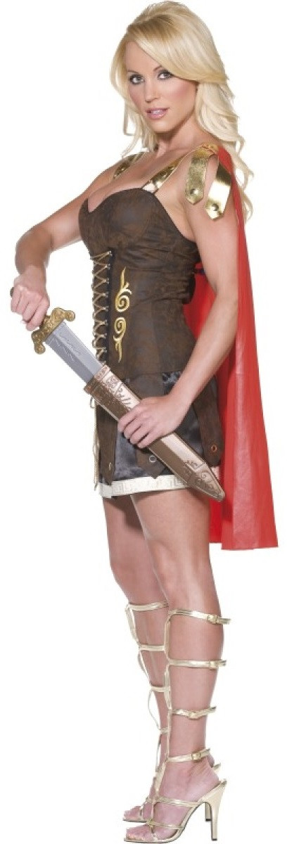 Click to view full size image; Image 3  sc 1 st  Fancy Me Limited & Ladies Sexy Roman Gladiator Fancy Dress Costume - Fancy Me Limited