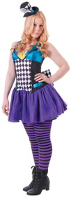Teen Girls Eclectic Hatter Fancy Dress Costume