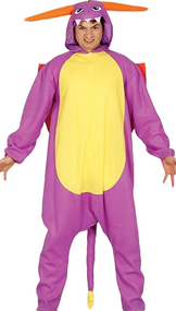 Adult Purple Dragon Fancy Dress Costume