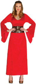 Ladies Medieval Game Queen Fancy Dress Costume