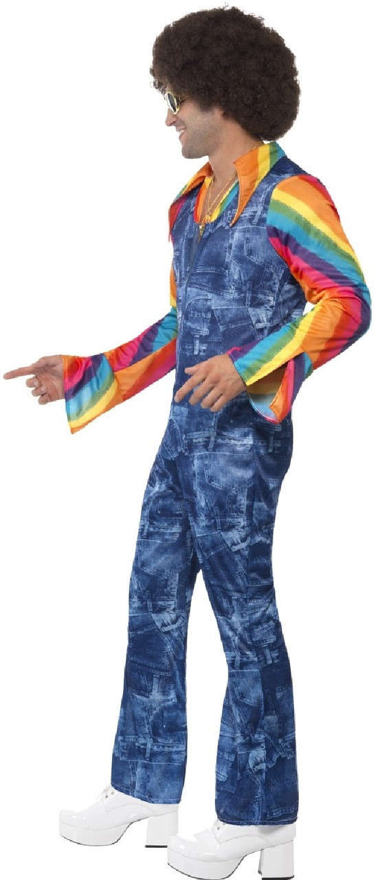 Mens 60 S 70 S Groovy Dancer Fancy Dress Costume Fancy