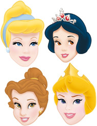 6 Pack of Disney Princess Party Masks