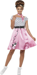 Ladies 1950s Poodle Fancy Dress Costume