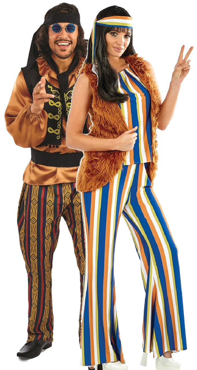 Couples 60s Rock Star Hippie Fancy Dress Costume  sc 1 st  Fancy Me Limited & Couples Costumes - Page 1 - Fancy Me Limited