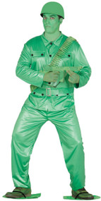 Mens Green Plastic Toy Soldier Fancy Dress Costume