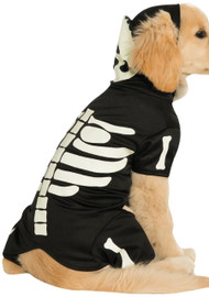 Dog Glow In The Dark Skeleton Fancy Dress Costume