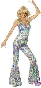 Ladies 70's Disco Diva Fancy Dress Costume