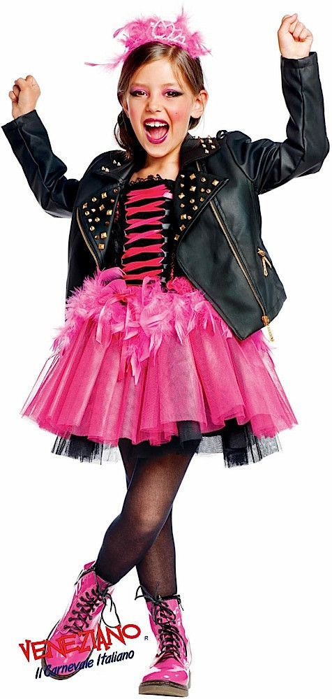 Girls Prestige Rock Star Fancy Dress Costume - Fancy Me Limited