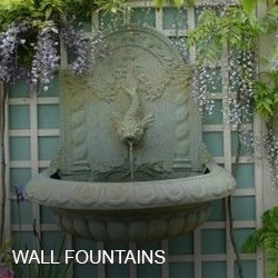 Accessories · Large Fountains · Wall Fountains