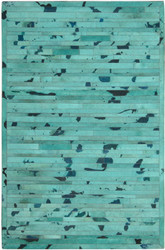 Turquoise Cow Hide Rug