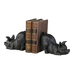 Piggy Bookends