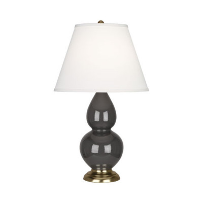 Robert Abbey Small Double Gourd Table Lamp Antique Brass Ash