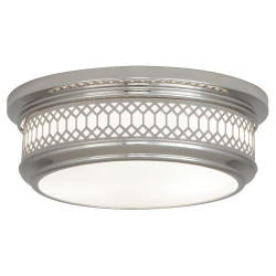 Williamsburg Tucker Flushmount - Small - Polished Nickel