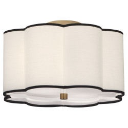 Axis Semi Flush Mount - Aged Brass