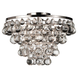 Bling Flushmount - Polished Nickel