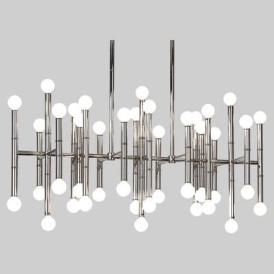 robert abbey jonathan adler meurice rectangular chandelier polished nickel. Black Bedroom Furniture Sets. Home Design Ideas