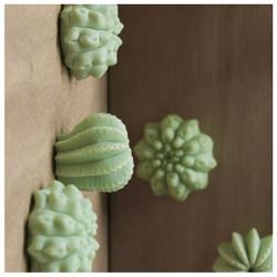 Wall Play - 'Cactus' - dark green Set of 10