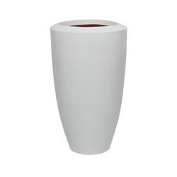 White Fiberglass Barrel - Large