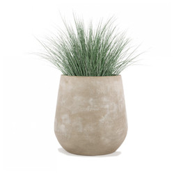 Bear Grass in Urbano Bell Fiber Clay Planter - LARGE