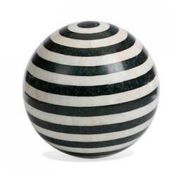 "Sphere Inlay Stone 16.5""D - Stripe"