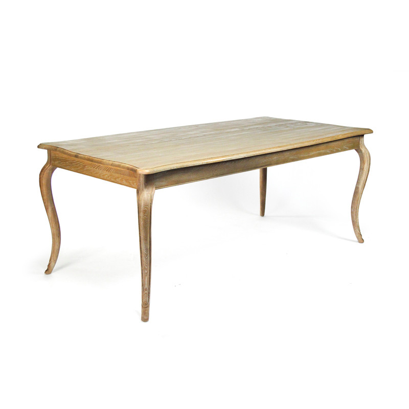 Zentique vineyard oak dining table limed grey oak - Limed oak dining tables ...
