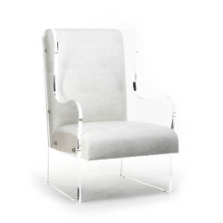 Acrylic Wingback Chair