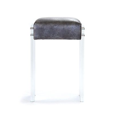 Zentique Acrylic Counter Stool Silver Aztec