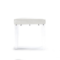 Acrylic Vanity Stool - White
