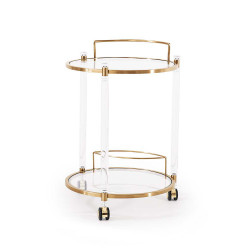 Wilcox Bar Trolley - Antique Gold