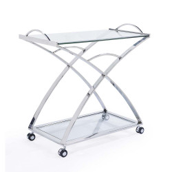 Marilyn Serving Cart - Silver