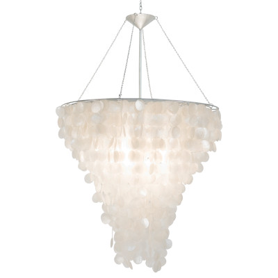 Worlds away large round capiz shell chandelier large round capiz shell chandelier mozeypictures Gallery