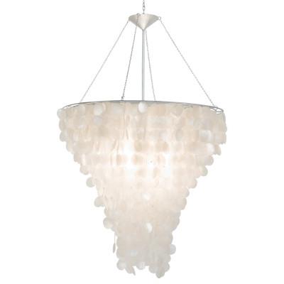 Worlds away large round capiz shell chandelier large round capiz shell chandelier aloadofball Images