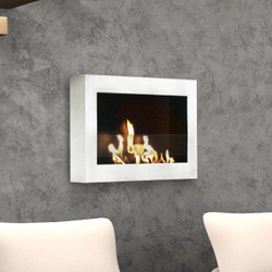 Anywhere Fireplace SoHo Fireplace- White High Gloss