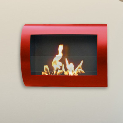 Anywhere Fireplace Chelsea Fireplace Red High Gloss