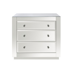 Alicia 3 Drawer Chest, Beveled Mirror