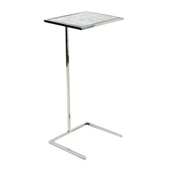 Cigar Table Nickel Plated With Antique Mirror Top