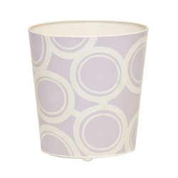 Oval Wastebasket Lavendar And Cream