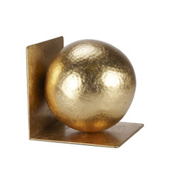 Wilder Gold Leaf Hammered Ball Bookends