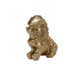 Foo Pair Of Gold Leaf Foo Dog Book Ends