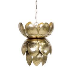 Blossom Metal Champagne Silver Leaf Pendant