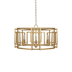 gold leaf chandelier acanthus leaf mckenzie square motif drum chandelier with six arm light in gold leaf worlds away