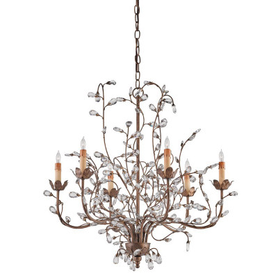Currey Amp Company Crystal Bud Chandelier Medium