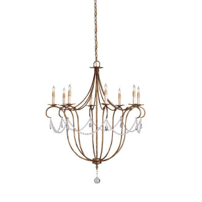 Currey Amp Company Crystal Light Chandelier Large