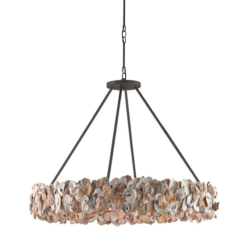 Currey And Company Durand Chandelier: Currey & Company Oyster Circle Chandelier