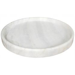 """20"""" Round Tray - White Stone"""